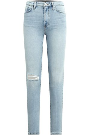 Hudson High Waisted - Women's Barbara High-Rise Super Skinny Ankle Cropped Jeans - Baby Face - Size 28