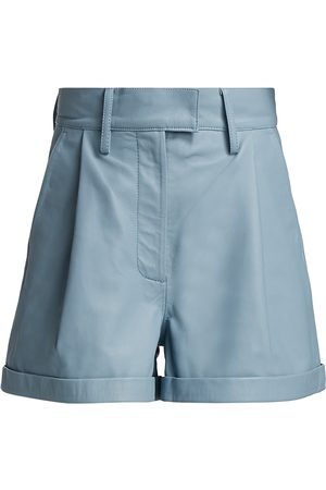 REMAIN Birger Christensen Women's Paola Leather Shorts - Ashley - Size 2