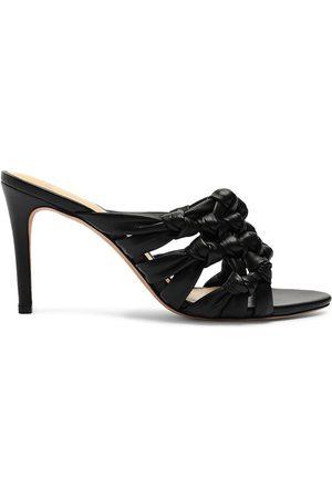 ALEXANDRE BIRMAN Women's Solange Intreccio Leather Mule Sandals - - Size 11