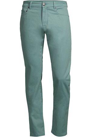 PT01 Men's Mid-Rise Super Soft Stretch Cotton Jeans - Sage - Size 38