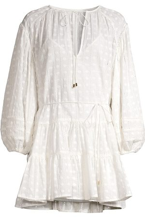 Significant Other Women's Lucca Blouson-Sleeve Dress - Ivory - Size 8