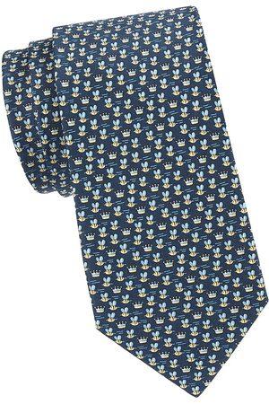 Salvatore Ferragamo Men's Bee Silk Tie - Navy