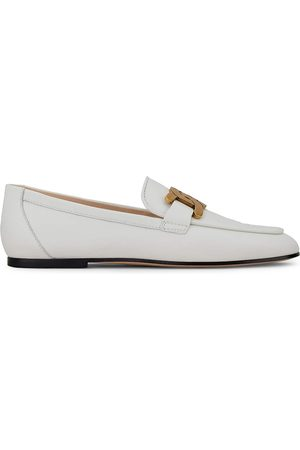 Tod's Women's Kate Almond-Toe Leather Loafers - - Size 9.5