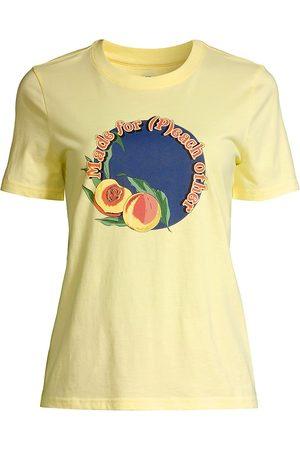Tory Burch Women's Made For Peach T-Shirt - Tulip - Size XL