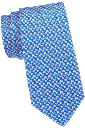 Salvatore Ferragamo Men's Bird Silk Tie - Fazzurro