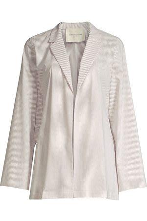 Lafayette 148 New York Women's McGraw Back-Tie Jacket - Smoked Taupe Multi - Size XL