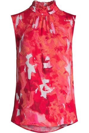 Donna Karan Women's Abstract Floral Sleeveless Top - Abstract Floral - Size XS
