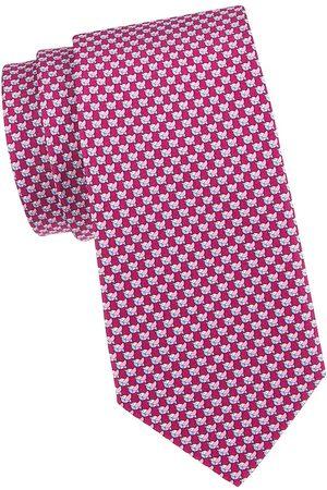 Salvatore Ferragamo Men's Bird Silk Tie - Vinaccia