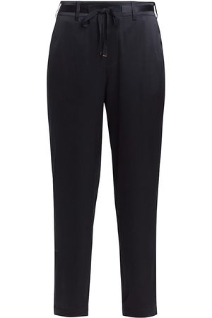 CAMI Women's Alex Silk Blend Pants - Navy - Size Large