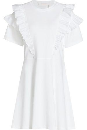 See by Chloé Women's Tier Ruffle T-Shirt Dress - - Size XL