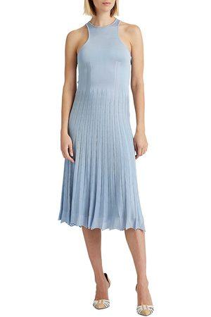 Ralph Lauren Women's Pleated Pointelle Sweater Day Dress - - Size Large