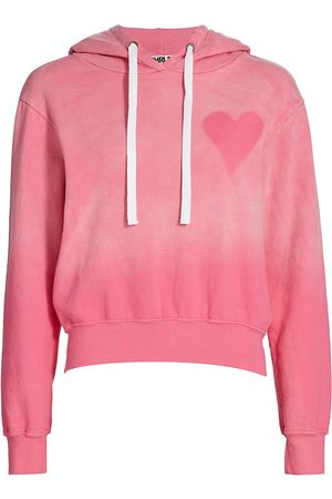 CHRLDR Women's Heart Stencil Cropped Hoodie - Hot - Size XS