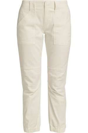Frame Women's Banded Bottom Trapunto Pant - Off - Size 32