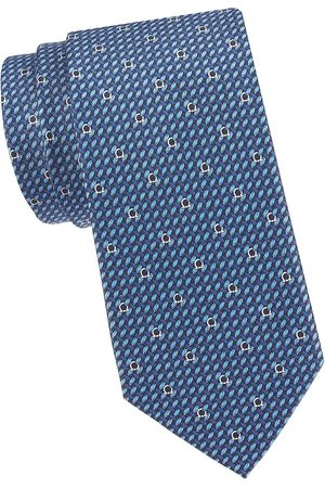 Salvatore Ferragamo Men's Gancini Silk Tie - Navy