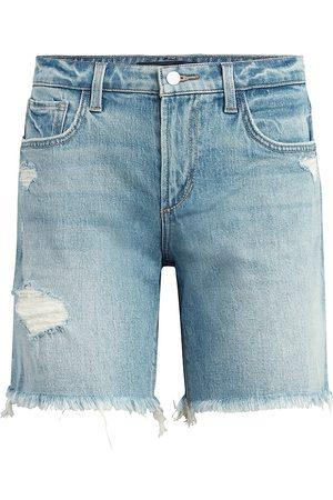 Joes Jeans Women's The Lara Distressed Denim Bermuda Shorts - Indiana - Size 30