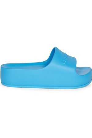 Balenciaga Women's Mono Logo Platform Pool Slides - - Size 11 Sandals