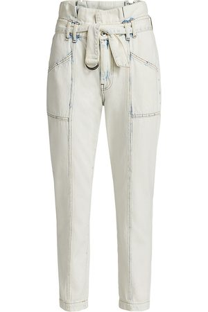 Jonathan Simkhai Standard Women's Ace Paperbag Jeans - Huntington Light - Size 26