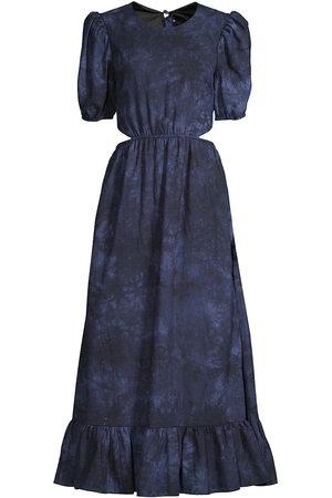 LIKELY Women's Rosa Tie-Dye Cutout A-Line Dress - Navy - Size 4