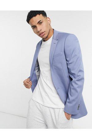 adidas Slim Suit Jacket In Blue-Blues