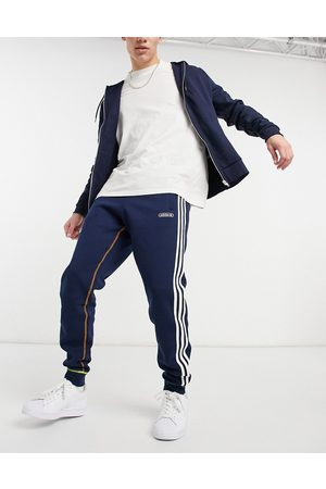 adidas Sweatpants in navy with contrast stitch