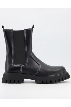 adidas Vegan-friendly leather chunky pull up chelsea boots in