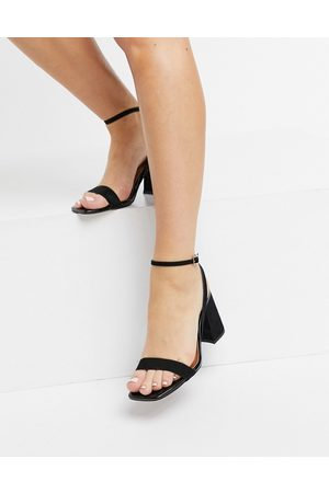 adidas Hudson barely there block heeled sandals in