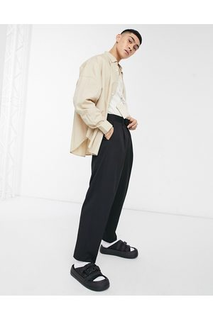 adidas Oversized tapered smart pants in