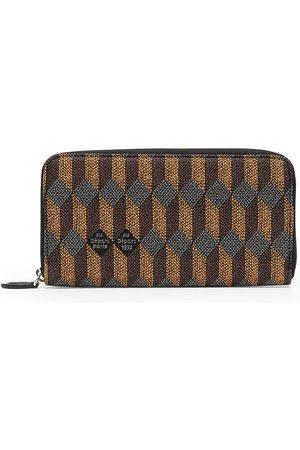 AU DEPART Women Wallets - Geometric-print leather purse