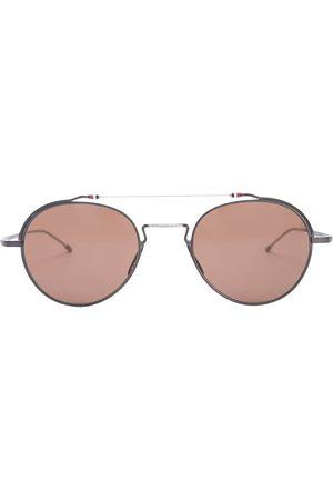 Thom Browne Aviators - TBS912 aviator-frame sunglasses - iron