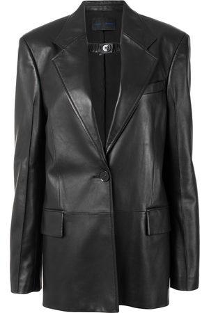adidas Shiny leather blazer
