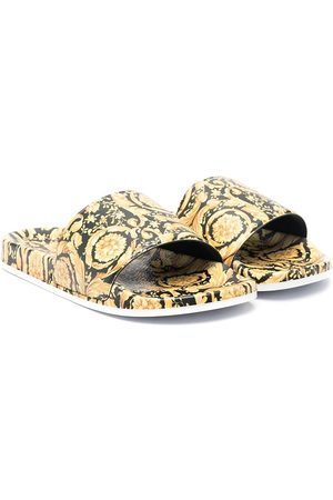 VERSACE Sandals - Barocco-print sandals