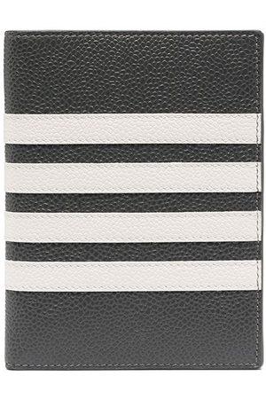 Thom Browne Men Wallets - 4-bar passport holder - Grey