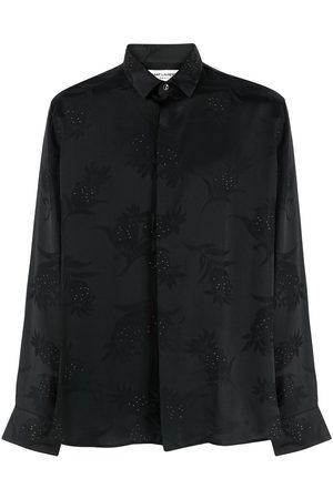 adidas Botanical-print metallic shirt