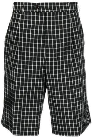 adidas Check-print knee-length shorts