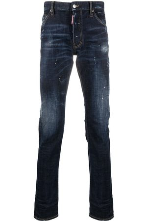 adidas Distressed-effect high-rise jeans