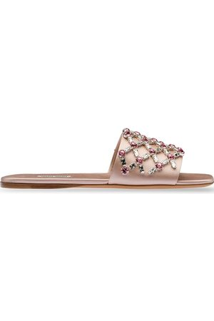 adidas Flat satin sandals