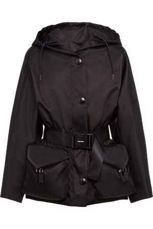 Prada Re-nylon gabardine belted jacket