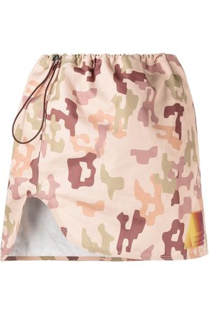 adidas Camouflage print mini skirt - Neutrals
