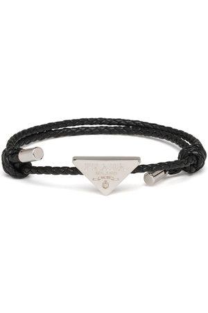 adidas Triangle logo braided bracelet