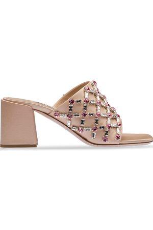 adidas Crystal-embellished satin sandals