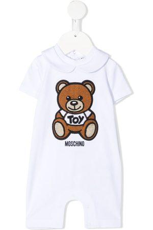 adidas Teddy embroidery stretch-cotton romper