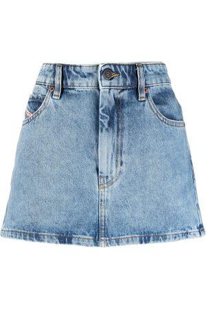 adidas A-line denim skirt