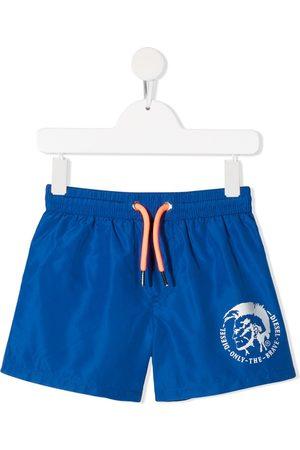 adidas Mohawk logo print swim shorts