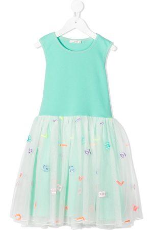 Billieblush Girls Dresses - Letter tulle skirt dress