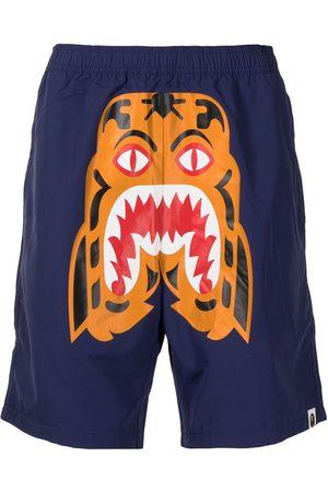 adidas Tiger print elasticated shorts