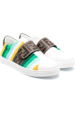 adidas TEEN logo-strap sneakers