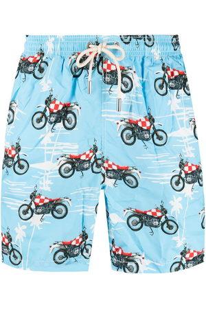 adidas Biker print swim shorts