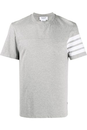 adidas 4-Bar stripe short-sleeve T-shirt - Grey