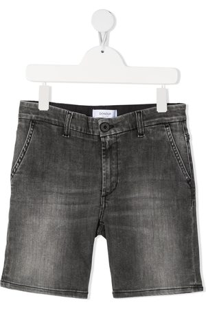 Dondup Grey-wash denim shorts