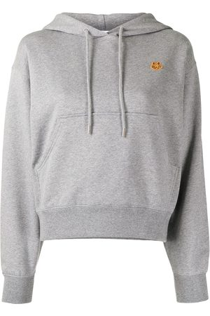 adidas Boxy-fit embroidered Tiger hoodie - Grey